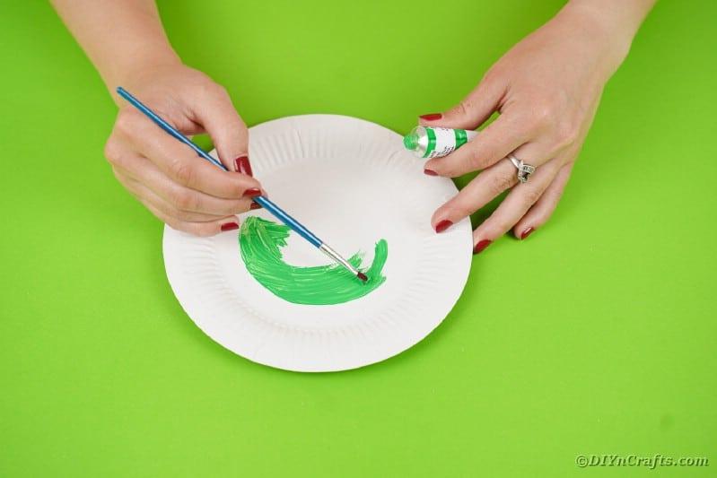 Augapfel auf Teller malen