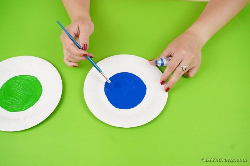 Painting eyeball on plate