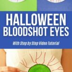 Bloodshot eye collage picture