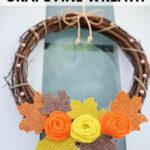 Fall wreath on front door