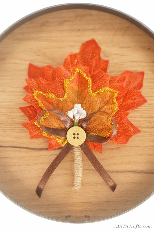 Boutonniere on wood