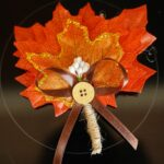 Fall leaf boutonniere on stovetop