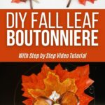 Fall leaf boutonniere collage