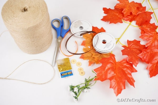 Fall leave boutonniere supplies