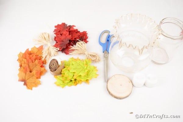 Fall leaf lantern supplies