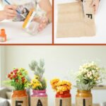 Fall mason jar decor collage