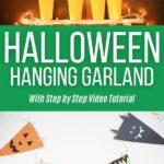Halloween garland collage