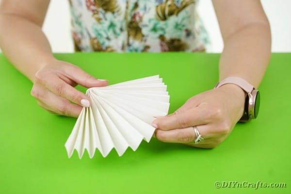 Folding white paper