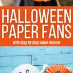 Halloween paper fans collage