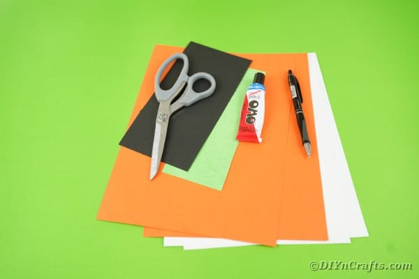 supplies for Halloween paper fans