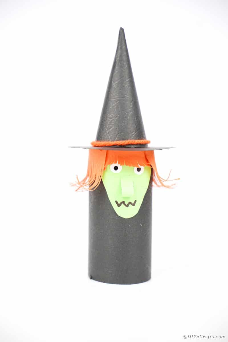 Witch on white background