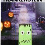 Toilet paper Frankenstein by Halloween background