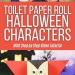 Halloween toilet paper roll people collage