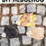 Hedgehog crafts on cobblestone