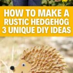Fall hedgehog craft collage