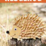 Pistachio hedgehog on stump