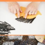 Fall hedgehog craft collage