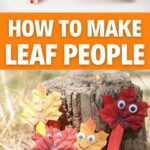 Leaf people collage