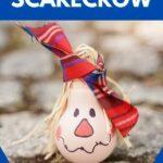 Lightbulb scarecrow on cobblestone
