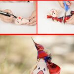 Scarecrow lightbulb ornament collage