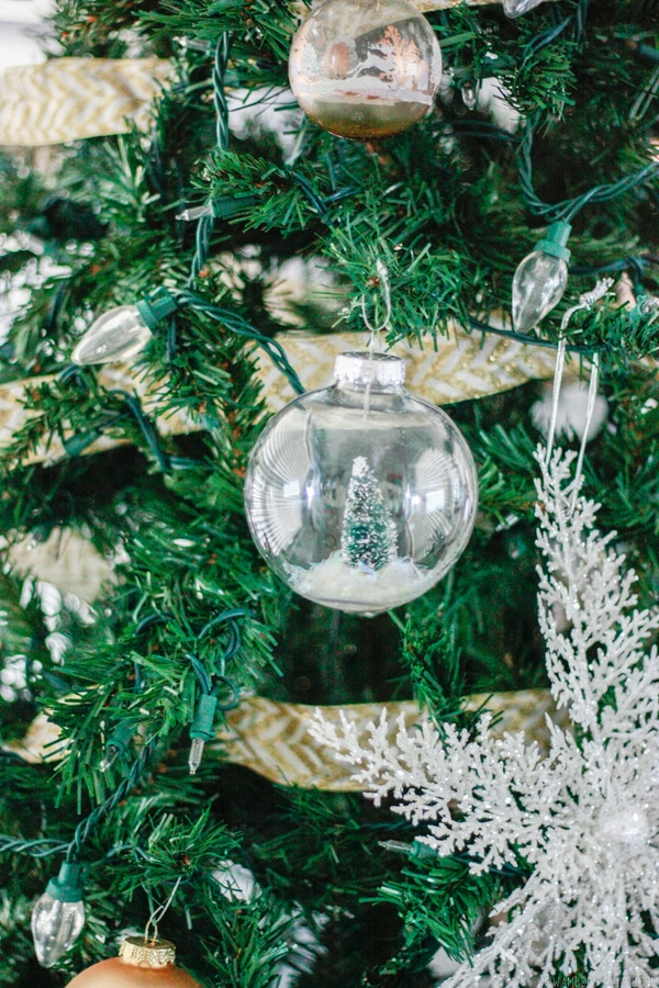 Snowglobe in tree