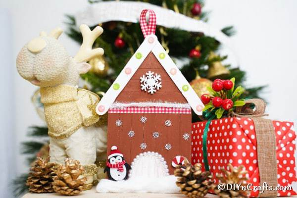 Gingerbread house by holiday decor