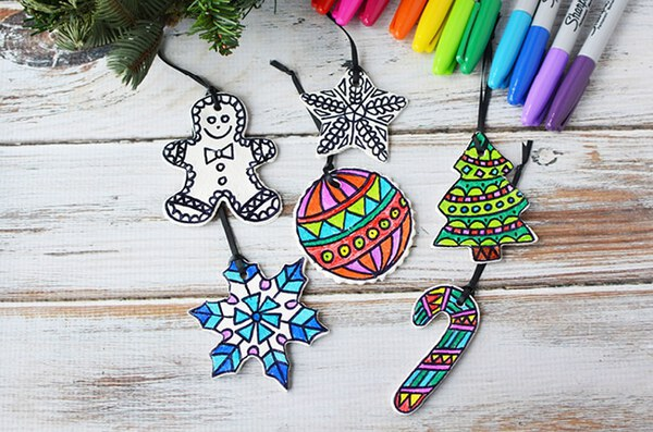 Kids ornaments on table