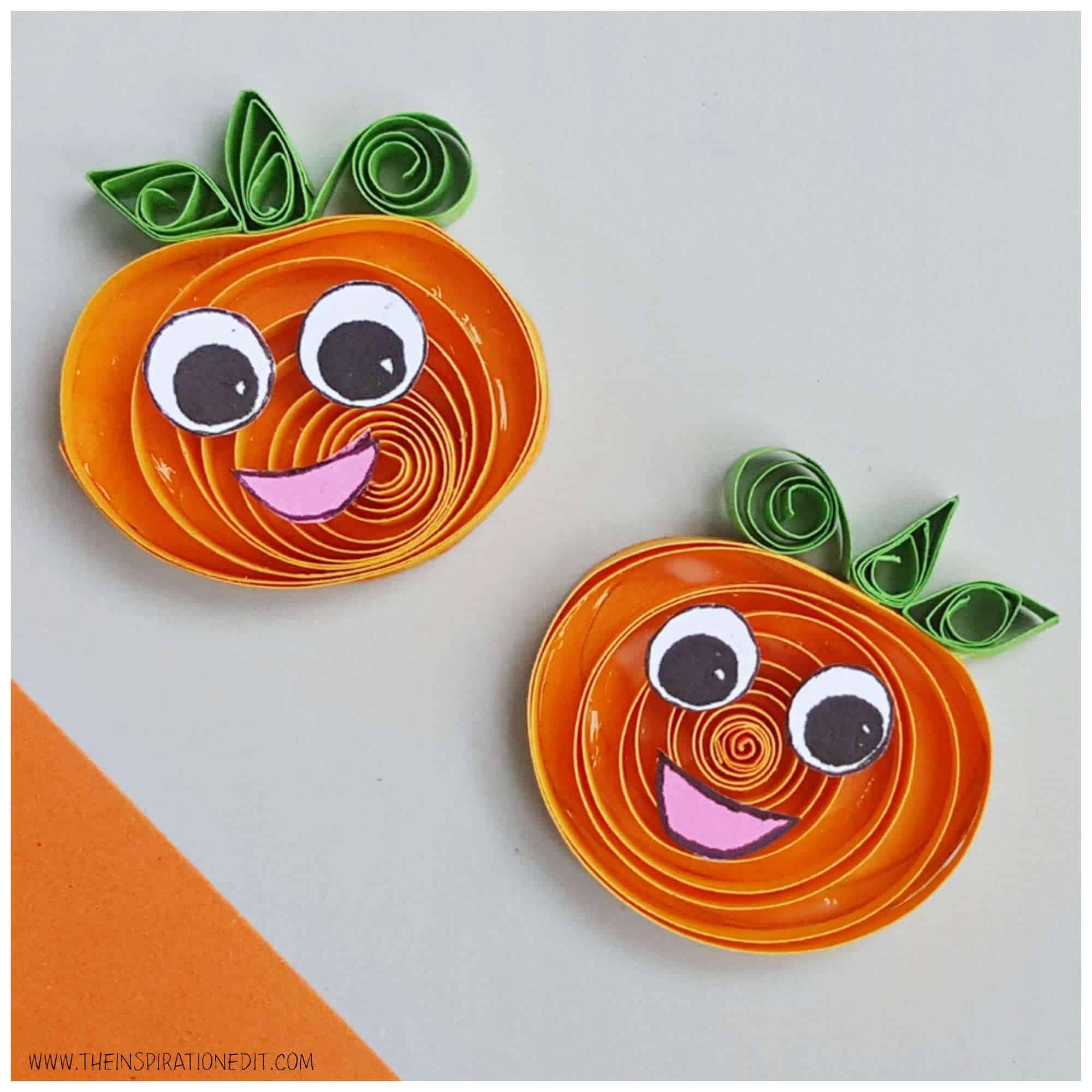 Happy pumpkin on table