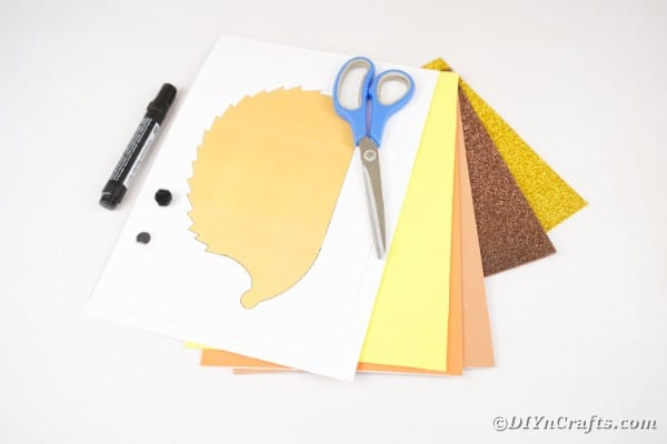 Paper hedgehog supplies