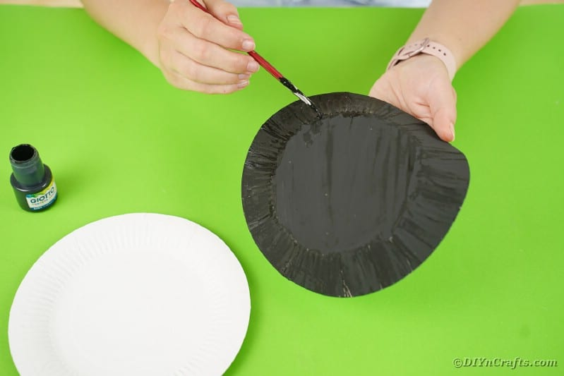 Painting a plate black