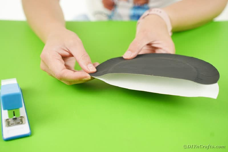 Stapling black plates together