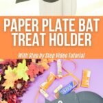 Paper plate bat collage