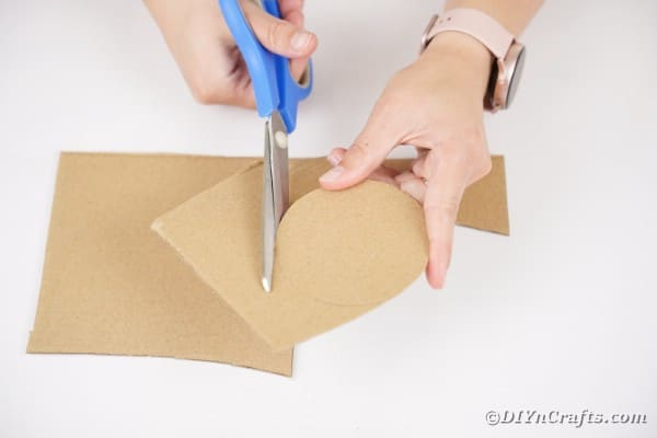 Cutting a circle from cardboard