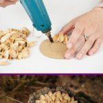 Pistachio shell craft collage