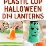 Plastic cup lantern collage