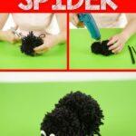 Pom pom spider collage