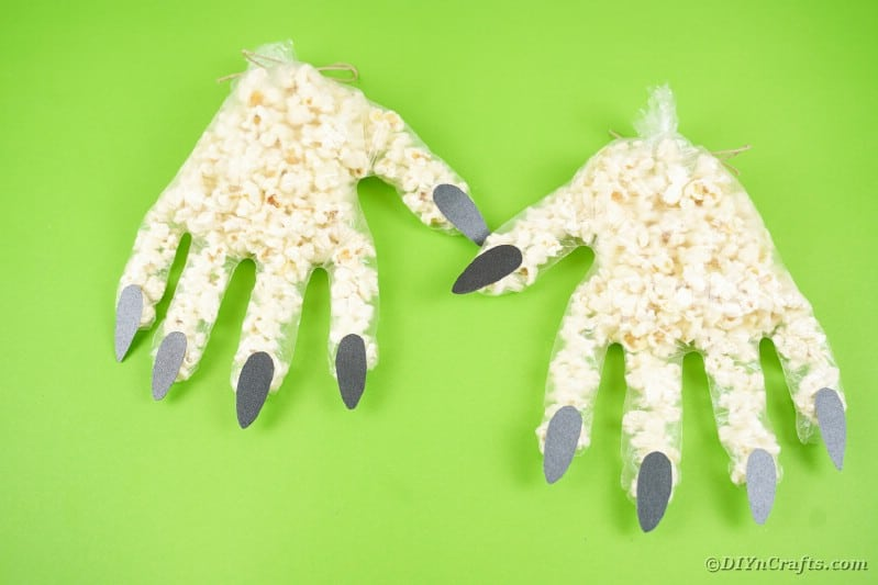 Two popcorn hands