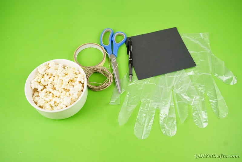 Supplies for popcorn hands