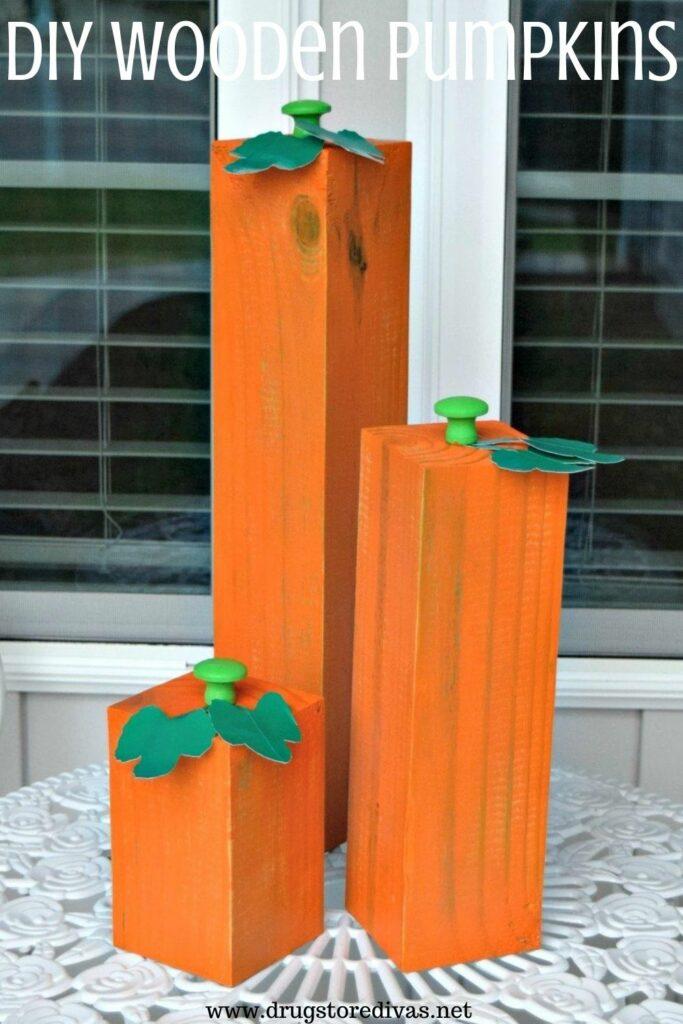 4X4 painted like pumpkins