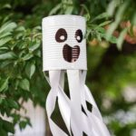 Tin can ghost in tree