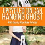 Tin can ghost collage