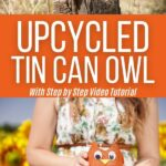 Tin can owl collage