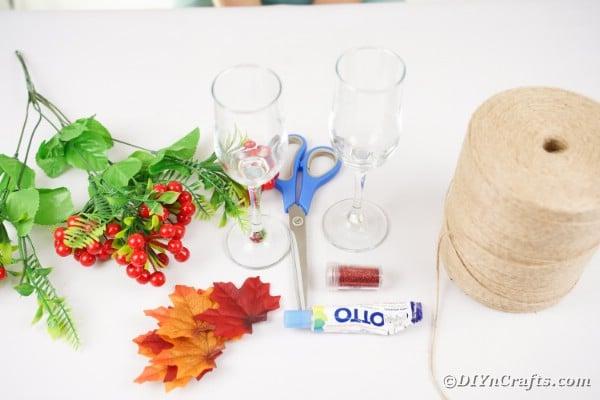 Wedding stemware supplies