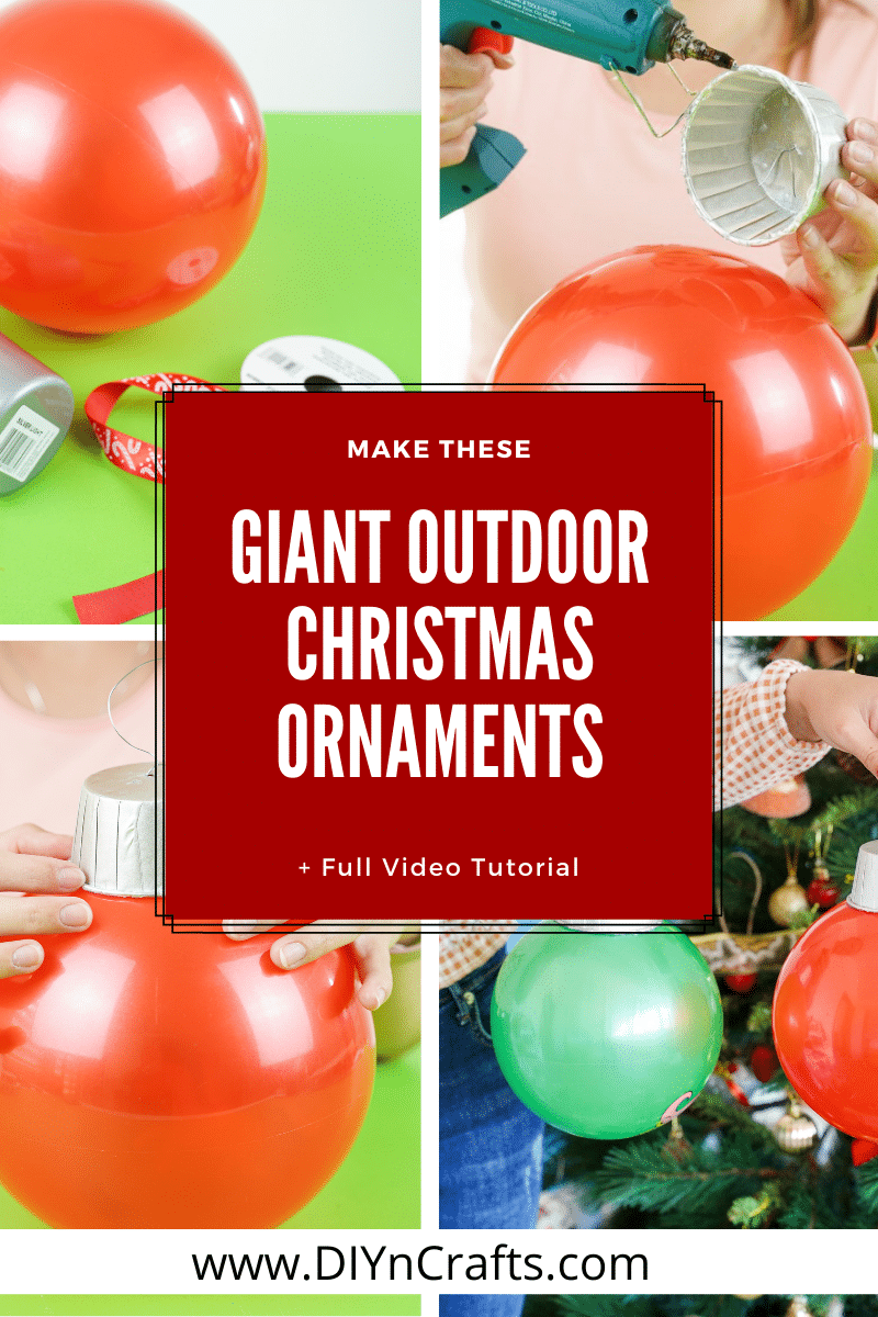Giant outdoor Christmas ornament how to