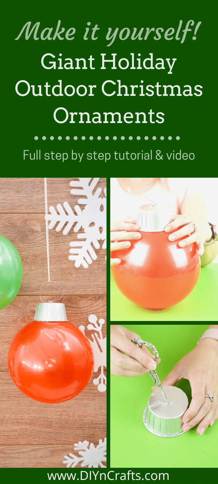 Instructions for making outdoor ornaments