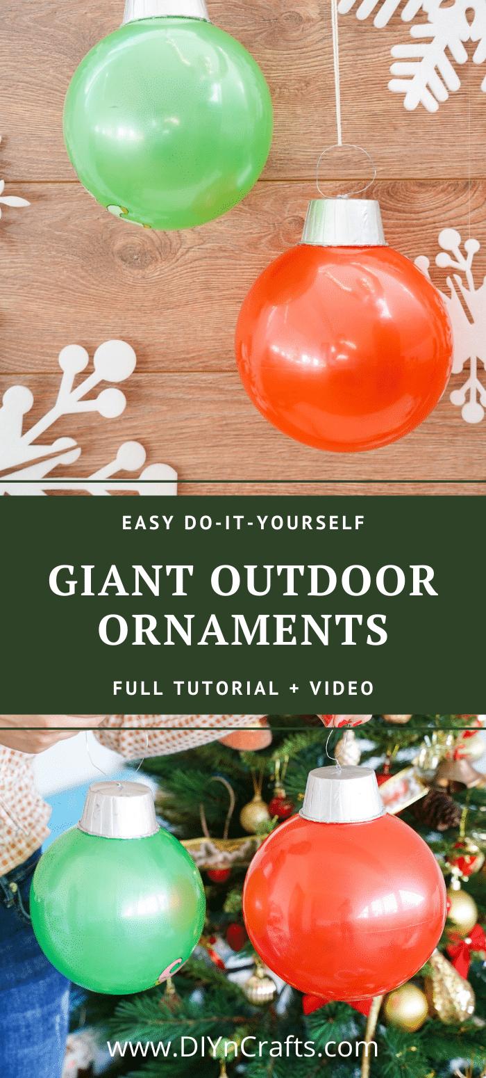 Big hanging Christmas ornaments