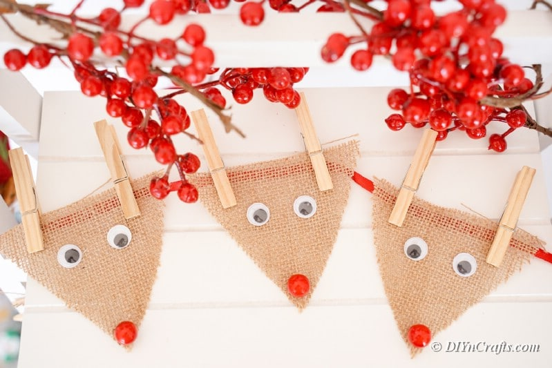 reindeer burlap craft pieces