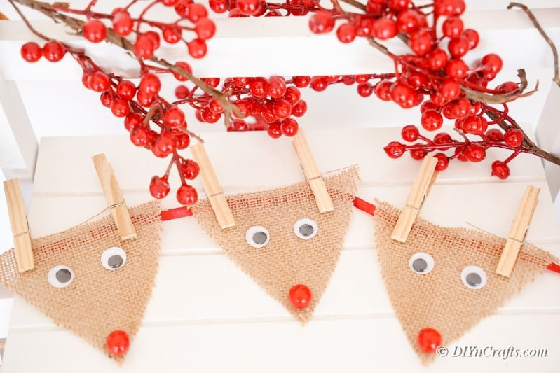reindeer with holiday cherries ohn table