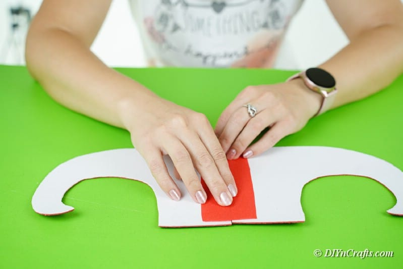 joining pieces of foam paper