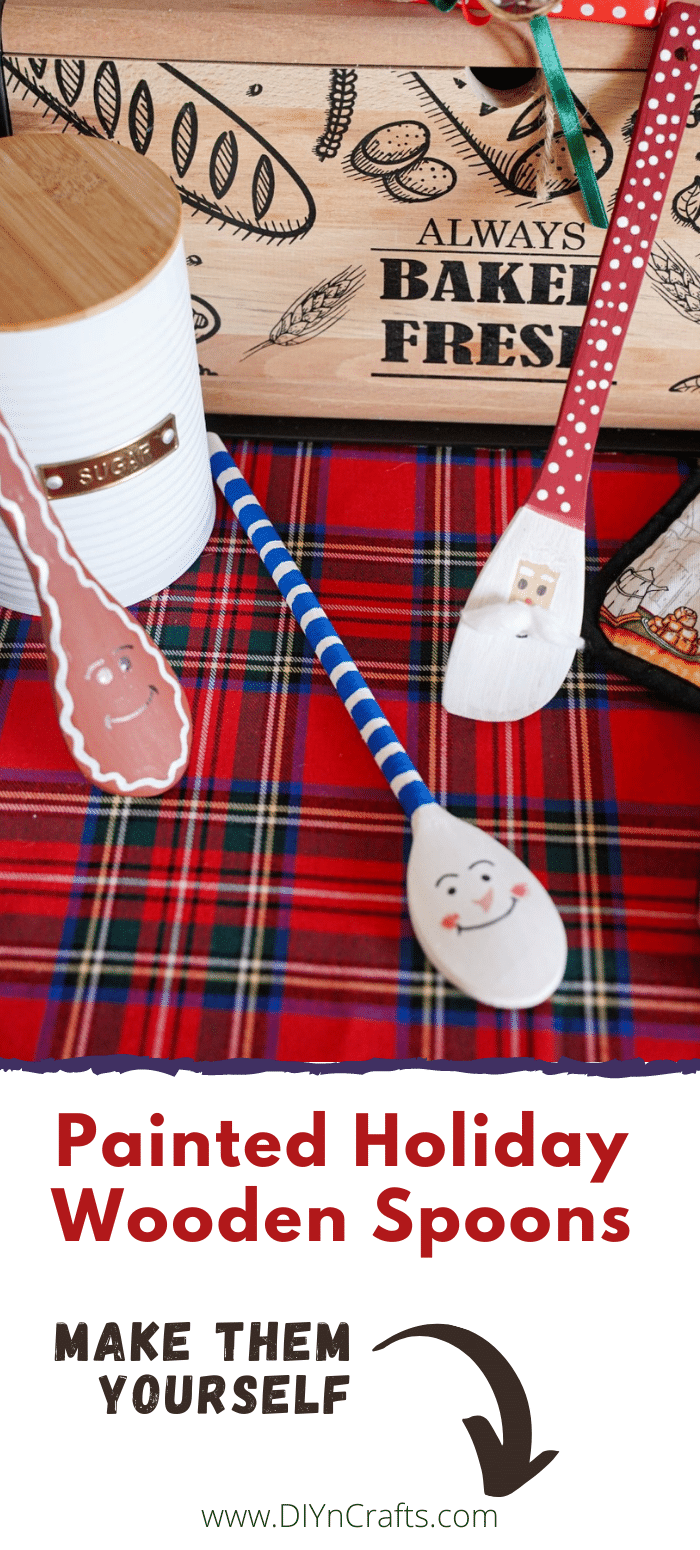 Santa, Snowman, and Gingerbread spoons